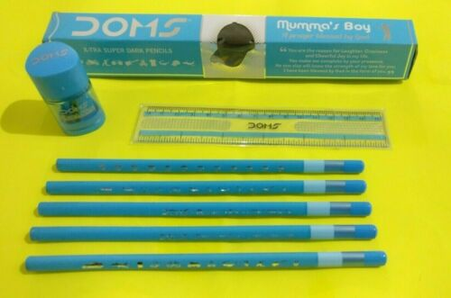 10x Doms Mumma/'s Boy X-TRA SUPER DARK Pencils kostenlos 1 Radierer + 1 Waage