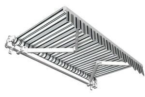 Sonnenschutz-Balkonmarkise-Gelenkarmmarkise-Markise-Balkon-grau-weiss-550x350-cm