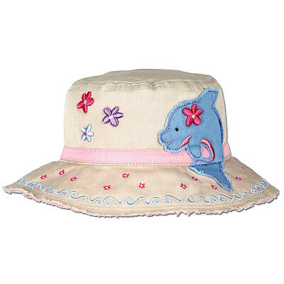 Toddler Beach Hat for Girls Stephen Joseph Kids Dolphin Bucket Sun Hats