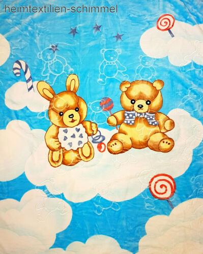 Kinder Baby Kuscheldecke Fleecedecke Kinderdecke Babydecke Krabbeldecke 110x140
