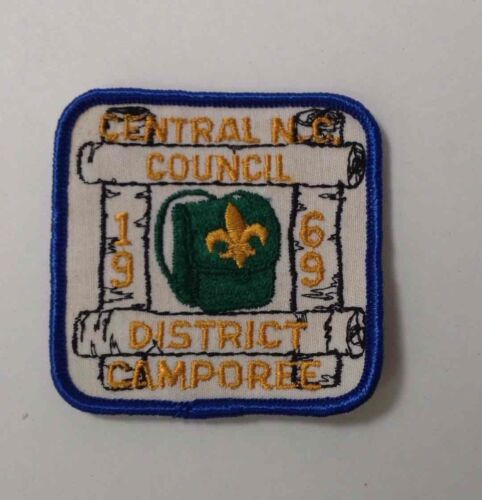 1969 DISTRICT CAMPOREE Boy Scouts of America PatchBadge CENTRAL N.C. COUNCIL