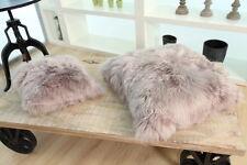 Sheepskin Wool Cushion Genuine Long Fur Pillow 60x60 (24''x24'')