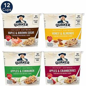Quaker-Instant-Oatmeal-Express-Cups-Variety-Pack-Breakfast-Cereal-12-Count