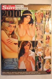 The-Sun-Page-3-Topless-Girls-2010-Calendar-Collectors-Item-STILL-SEALED