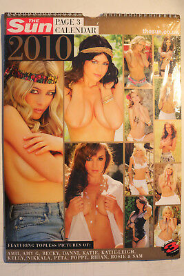 The Sun Page 3 Topless Girls 2010 Calendar  - Collectors Item (STILL SEALED!)