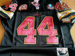 Detalhes sobre Washington Redskins #44 John Riggins Throwback Dual Patch costurado Preto Costurado Jersey- mostrar título no original