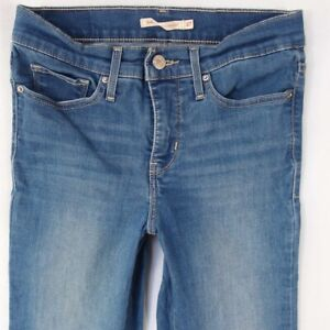814a410d Image is loading Ladies-Womens-Levis-314-SHAPING-STRAIGHT-Stretch-Blue-