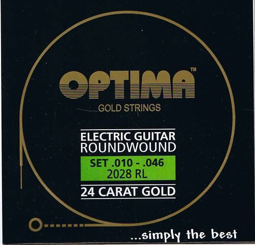 Optima 24K Gold 7-String Electric Set  .010-.013-.017-.026-.036-.046-.056 2028 7