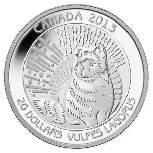 20-2013-Arctic-Fox-Pure-Silver-Coin