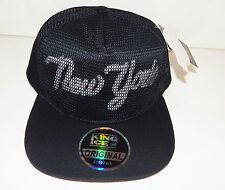 Uomo Donna nero SNAPBACK CAPPELLO Dope Picco Baseball New York Logo pasticcio finitura netto