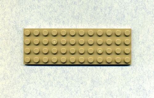 Dunkelbeige - 4 x 12 - Bauplatte Grundplatte Lego--3029