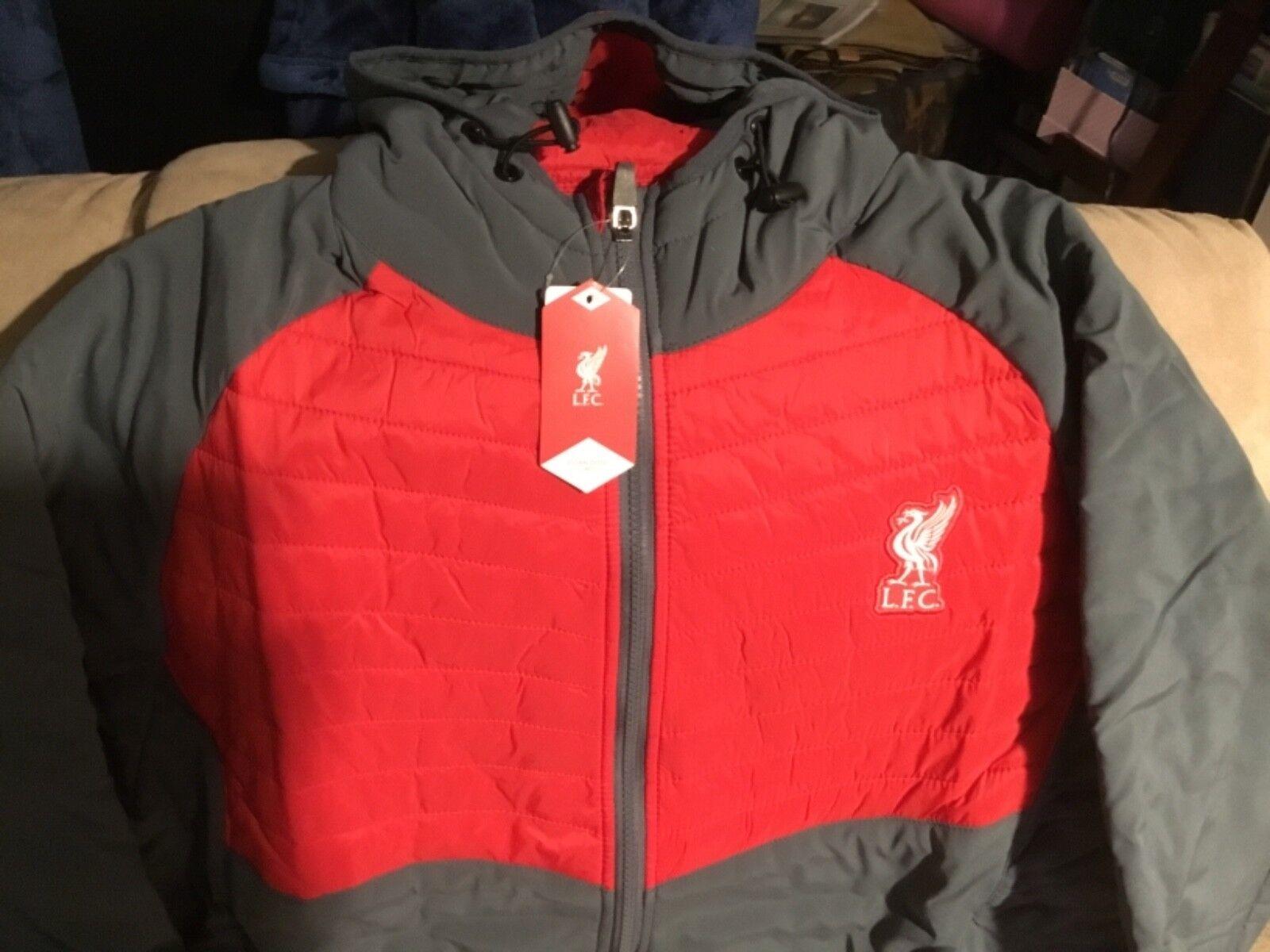 Liverpool F.C Premier League inglesa, Chaqueta híbrida Acolchado, Acolchado, Acolchado, Para Hombre Xl Nuevo Con Etiquetas 64c797