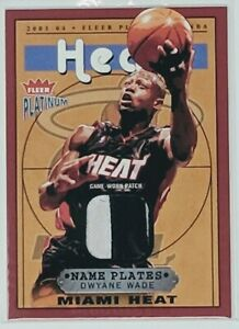 2003-04-Fleer-Platinum-Dwyane-Wade-Name-Plates-RPA-Rookie-card-RC-Jersey