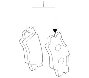 Genuine Toyota Brake Pads 04466-06090