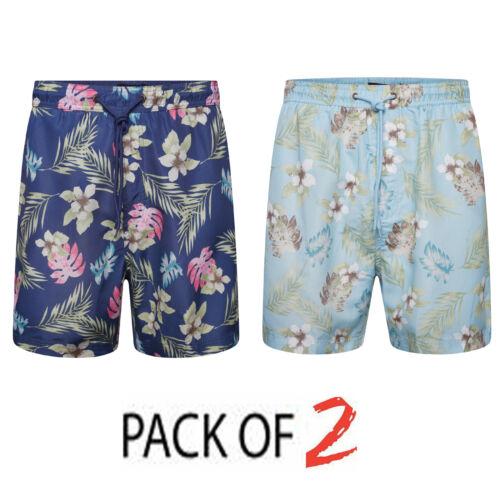 2 Pack Mens Swim Shorts Swimming Running Board Trunks Swimwear Beach Summer Pool