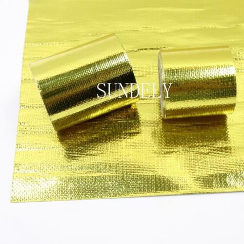 All Sizes Air Intake Pipe Shield Gold Thermal Heat Barrier Tape 4.5m 9m Roll