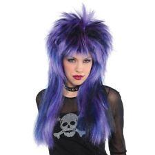 80s Rocker Wig Mens Fancy Dress 1980s Rockstar Celebrity Adult Costume Accessory