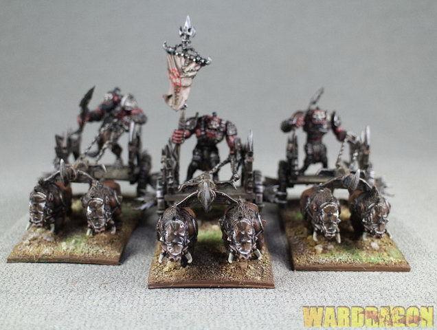 Krigets kungar målade Ogre Chariot Regimänt z13