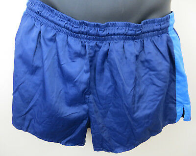 Vintage Adidas 80 S Shorts Blu Running Retrò Vintage Shiny Calcio Da Uomo D7 Grande L-