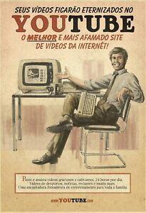 Youtube-Hommes-Bureau-Panneau-Metallique-Plaque-Voute-en-Etain-20-X-30-cm-FA0233