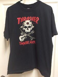 431e40d815b Image is loading Thrasher-Magazine-Skate-Tee-Shirt-Skate-Rock-Logo-