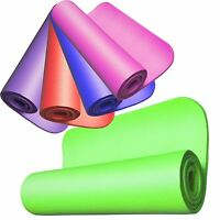 10MM 1CM THICK ROLL NON SLIP RIBBED YOGA CAMPING PILATES GYM EXERCISE FOAM MAT