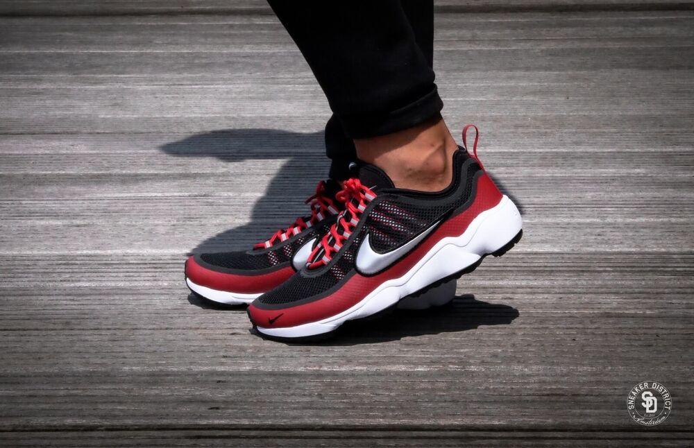 Nike Air Zoom Spiridon Ultra Noir Métallisé Platine Rouge Taille  Chaussures de sport pour hommes et femmes