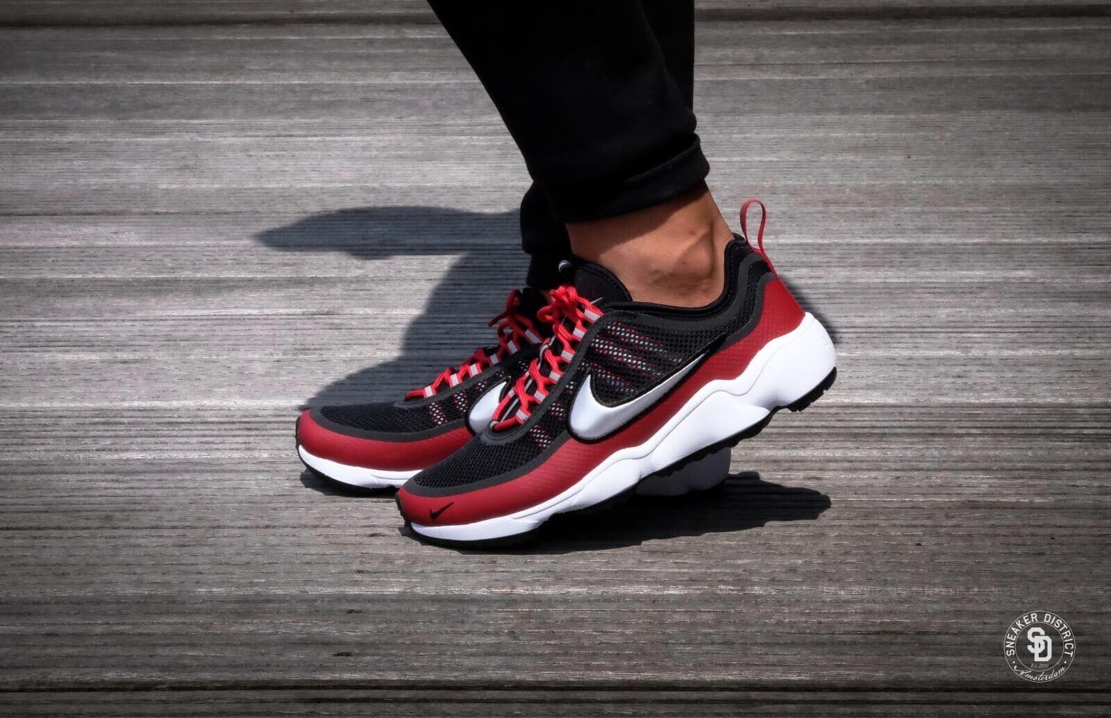 Nike Air Zoom Spiridon Ultra Black Metallic Platinum Red Size 12 876267-005