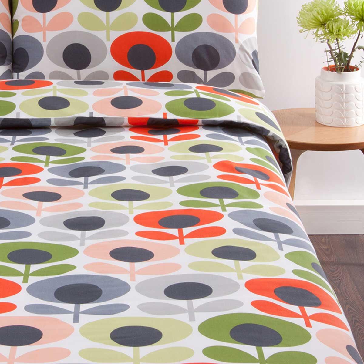 Orla Kiely Flower Oval High Quality Duvet Cover, King Size, Multi - New, Sealed