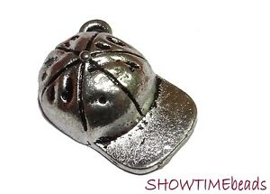 Metall-Charm-Anhaenger-Cappy-19x11mm-10-Stueck-silber