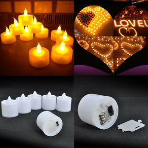 6pcs flameless led flickering tea light candles wedding christmas decor battery ebay - Appealing christmas led candles for christmas decorations ...