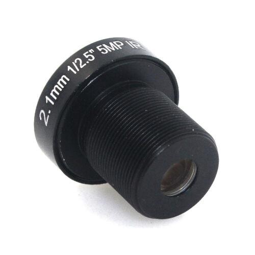 5.0Megpixel M12 MTV 2.1mm 5MP HD CCTV Lens IR HD Security Camera Lens Fixed Iris
