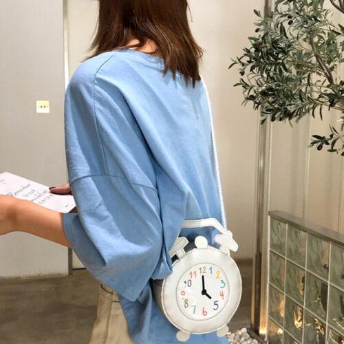 Waterproof Shoulder Bags Crossbody Tote Personalized Zipper Mini Clock Purse BT3