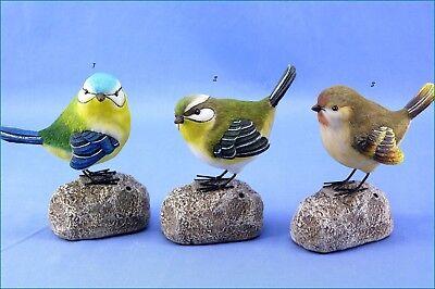 Poly Zwitscher Vogel Auf Stein Optik 64684 Dekoration Fensterdeko Tier Firgur Attraktiv Und Langlebig