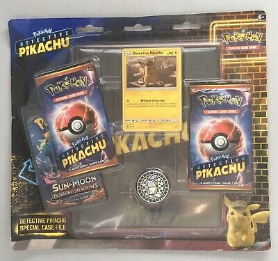 Brand New And Sealed! Detective Pikachu 4 Booster Packs Pokemon TCG