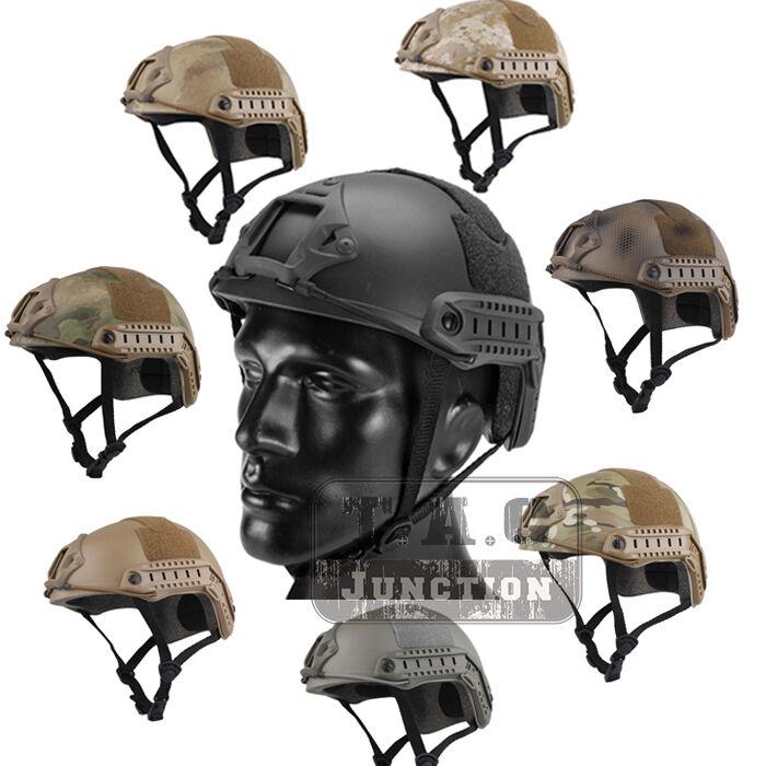 Emerson Tactical Fast Helmet Bump MICH Ballistic MH  Type w  NVG Shroud+Side Rail  official authorization