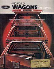 Ford Escort Granada LTD Wagon 1982 USA Market Sales Brochure