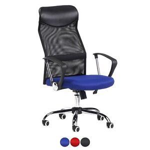 Silla-de-oficina-giratoria-silla-escritorio-color-Azul-Rojo-o-Negro-Mega