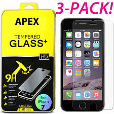 Premium Real Tempered Glass Screen Protector for Apple iPhone 7 Plus 3pack