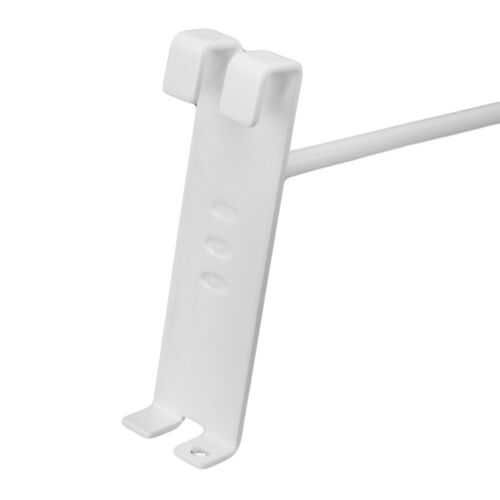 """50 PC 8/""""Gloss White Grid Wall Metal Hooks Display For Use W// Gridwall Panels"""