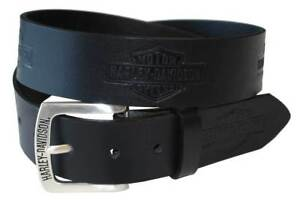 Harley Davidson Mens Tradition Bar & Shield Belt Black Birthday Gift