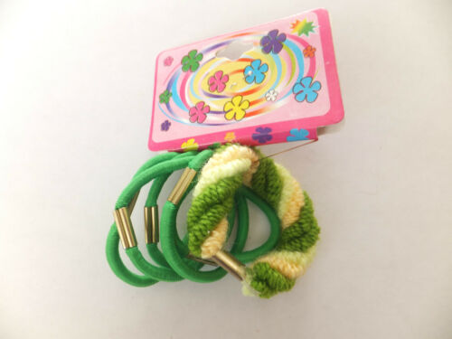 Girls Ladies Thick Snag Free Hair Bobble Elastic Hair Bands Set Of 5 Or 6
