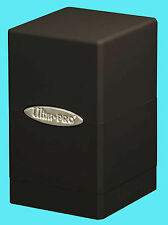 ULTRA PRO SATIN TOWER BLACK DECK BOX New Gaming Card Dice Storage Compartment