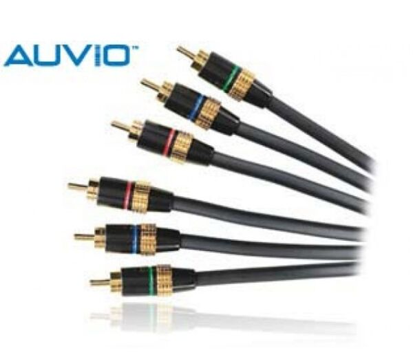 #150-0232 New! Radio Shack Auvio 6 ' Ft Foot Gold Plated Component Video Cable