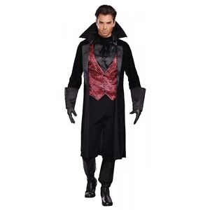 Victorian Vampire Costume Adult Dracula Halloween Fancy Dress