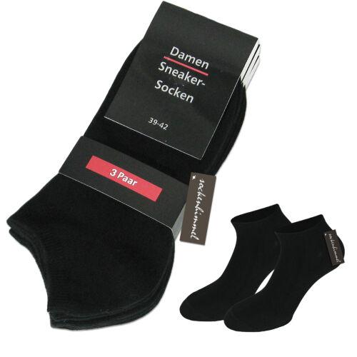 Hautfreundliche Kurzsocken aus ÖkoTex Baumwolle in schwarz 12er Set für Damen