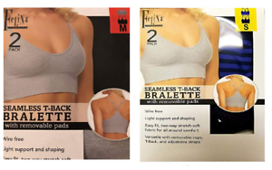 a449cc8ce1 Felina Ladies  Seamless T-Back Wire Bralette with Removable Pads 2 ...