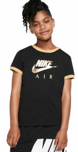 Nike Mädchen Sport-Freizeit-T-Shirt G NSW TEE TRIBLE schwarz Sportunterricht