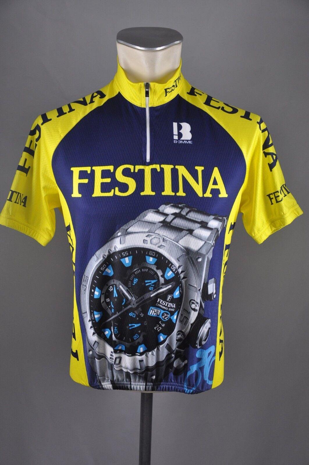 Team Festina Biemme bike Rad Trikot Gr S - 2 - 53cm jersey cycling N6