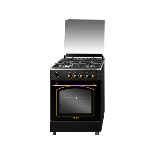 Cocina SVK6604VX 4 fuegos vitrocerámica 86 x 59,8 x 61 cm Luz horno eléctrico
